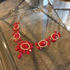 Jcrew red necklace